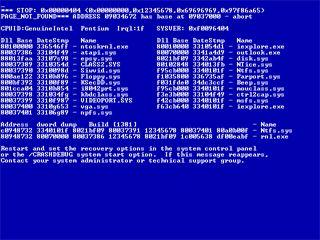 Синий экран смерти - о чем предупреждает ошибка 0x000000ed